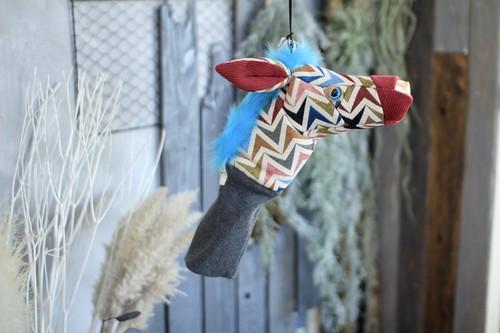 アニマルヘッドカバー(シマウマ)animal head cover (zebra)