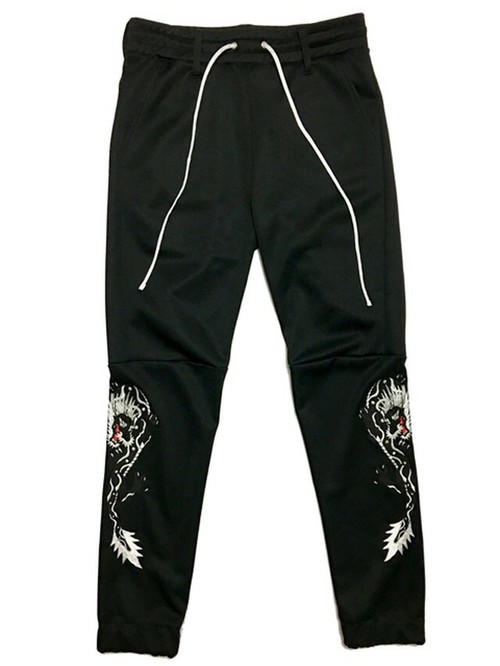 RAKUGAKI TWIN DRAGON Embroidery Truck Pants