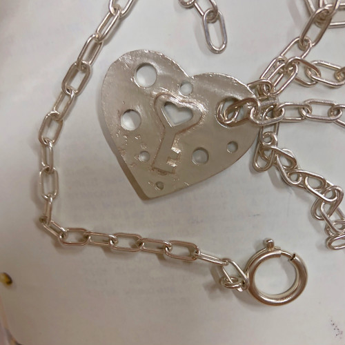 2way HEART punch Necklace/Bracelet SILVER925 #LJ19014N