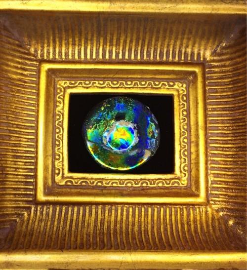 奇跡の産物‼1点物‼ ローマンガラス・置物【額付き】⑧