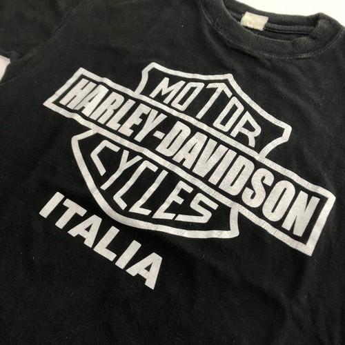 80's ビンテージ ハーレーダビッドソン Tシャツ ユーロ 黒