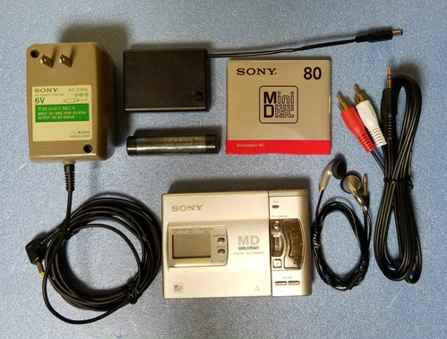 MDポータブルレコーダー SONY MZ-R50 MDLP非対応 録音良好・完動品 ☆