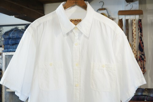 "CAMCO white cotton s/s Shrit ""old-yarn"""