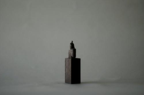 (063)wood figure-mini台付_034