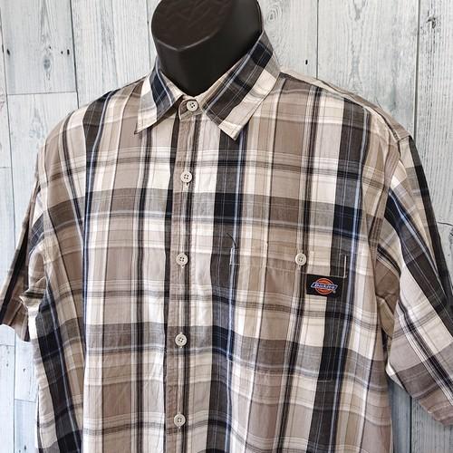 DICKIES(ディッキーズ)チェックシャツ半袖 L RankB