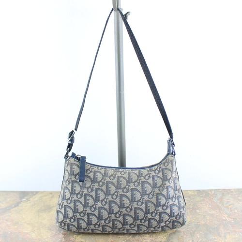 .Christian Dior TROTTER COTTON SHOULDER BAG MADE IN ITALY/クリスチャンディオールトロッターコットンショルダーバッグ 2000000048116