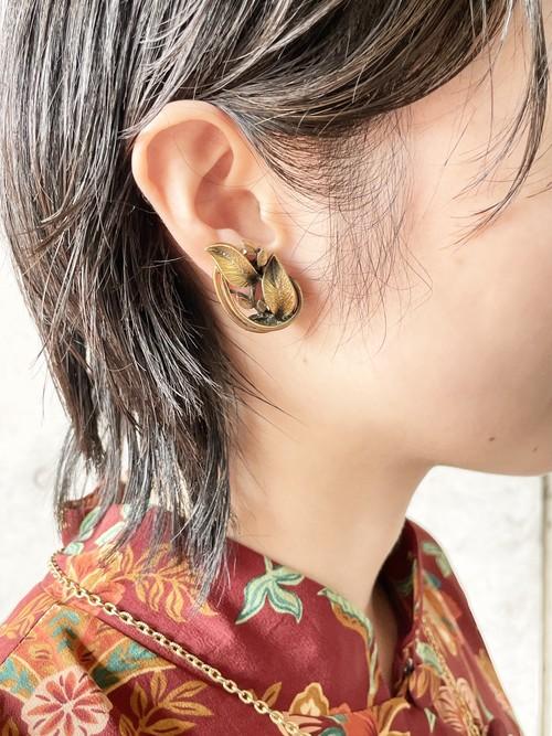 Vintage Gold Leaves Earrings