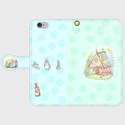 iPhone6/6s おかしの家をプレゼント 手帳型スマホケース