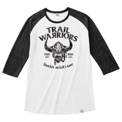 Tri Brend Raglan 3/4 Sleeve T-Shirt / TW / White×Black