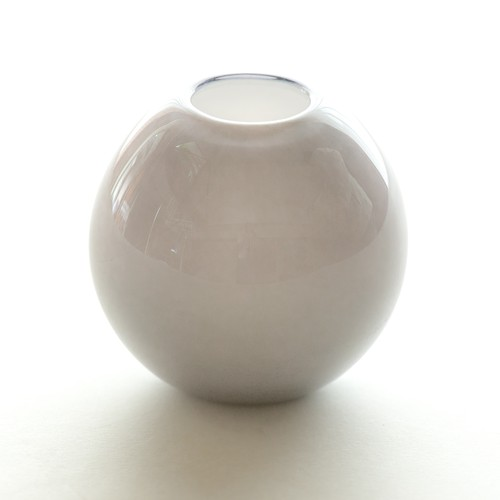 Balloon vase S -smoke gray- <受注生産>