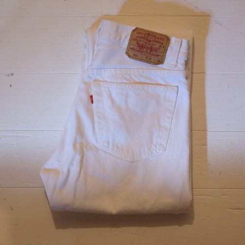 "Levi's 1990's 501 ""White,Made in USA"" W31 L34"