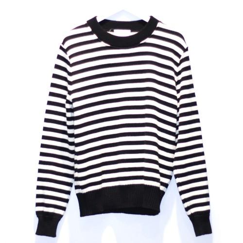 AMI ALEXANDRE MATTUSSI Knit Sweater WHITE × BLACK