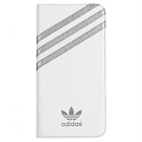 (アディダス オリジナルス) adidas Originals 18303 Booklet Case iPhone6s Plus/6 Plus ケース 手帳型 WHITE×SILVER