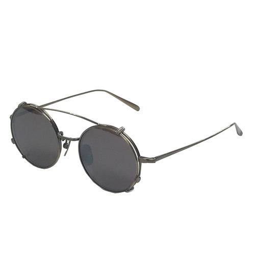 two way titanium sunglasses with clip / antique gold(KANEKO optical made)