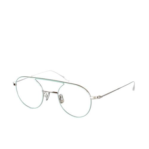 YUICHI TOYAMA.:ユウイチ トヤマ.《U-067 Hannes ハネス Col.05 Silver Ligth Blue》 眼鏡 ボストン