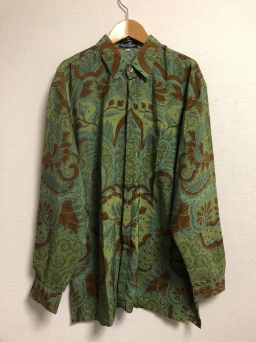 80's Indonesian Batik silky shirt