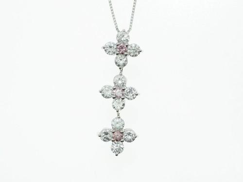 【中央宝石研究所】2.062ct UP ファンシーピンクダイヤモンドネックレス