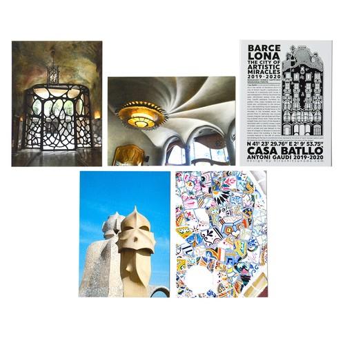 「奇蹟の芸術都市 バルセロナ」展 ポストカード5枚セットF「バルセロナ展限定デザイン①」