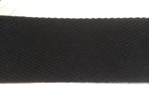 アクリル 杉綾織(綾テープ) 20mm幅  黒 /全カラー 5m単位
