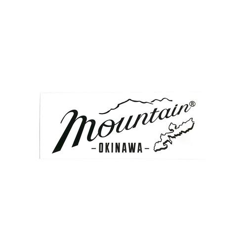 Mountain オリジナルステッカー 150✖️60 ホワイト