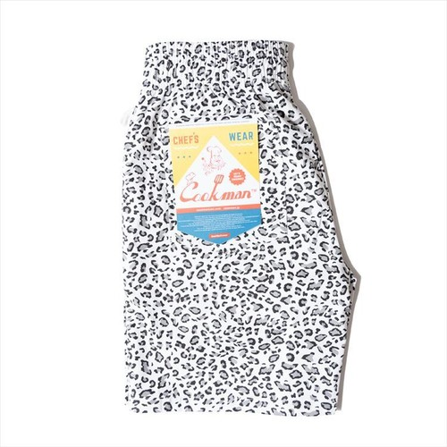 COOKMAN CHEF SHORT PANTS「SNOW LEOPARD」/ WHITE