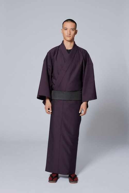 きもの / Silk-wool / Purple(With tailoring)