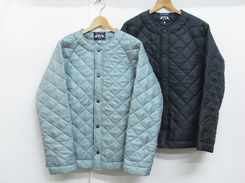 BEAVER OF BOLTON/COLLARLESS QUILTED JACKET