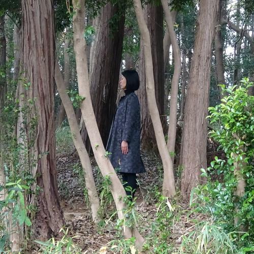 JACQUARD COAT ジャガードコート    どんぐりの森