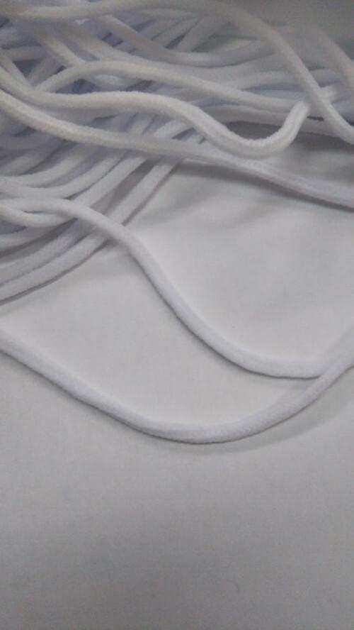 マスク用のゴム(日本製) 白(純白) 4㎜径でふんわり・しっかり 50m巻