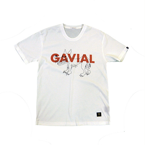 WOLF & KNIFE TEE (WHITE) / GAVIAL