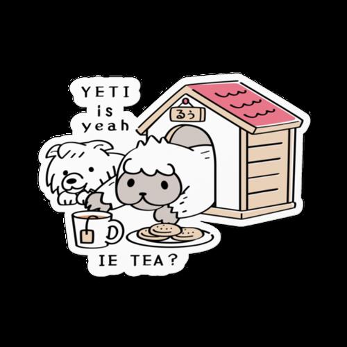 ステッカー*MTCT112 YETI is yeah*家でお茶*A