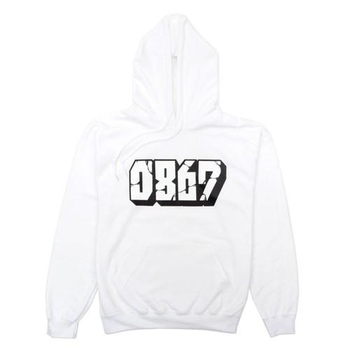0867 / Pullover Hoodie / Blockbuster / Logo / White