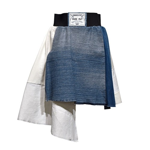 FADE OUT Label / FARINELLA Skirt / White and Blue