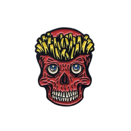 """No Fit State ピンバッジ ソフト エナメル """"Skull Fries Pin"""" AJ00601"""