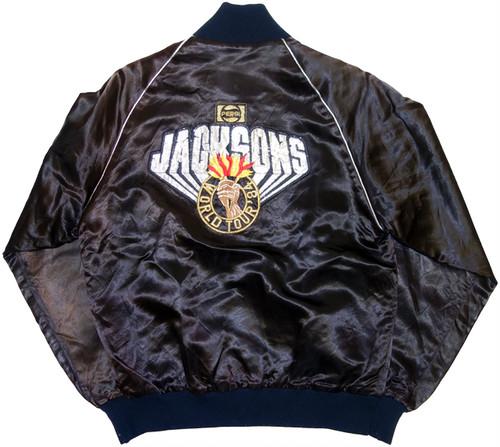 "80s JACKSONS サテンスタジャン ""Victory Tour"" | ジャクソンズ マイケル・ジャクソン アメリカ ヴィンテージ 古着"