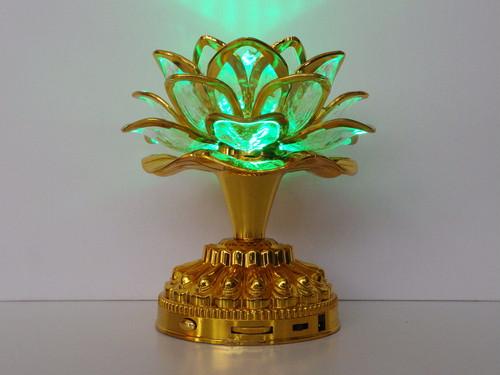 ブッダマシーン 卓上照明型 (ゴールド)「七彩念佛 蓮花灯」