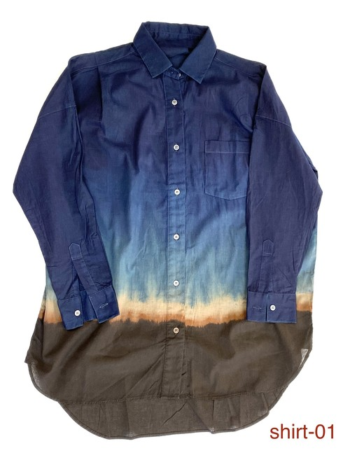 amami  earth color wide shirt