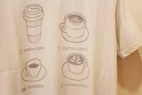 "Fiver Food Icons T-shirt ""Coffee"""