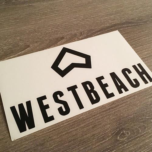WESTBEACH ステッカー 99mm × 182mm