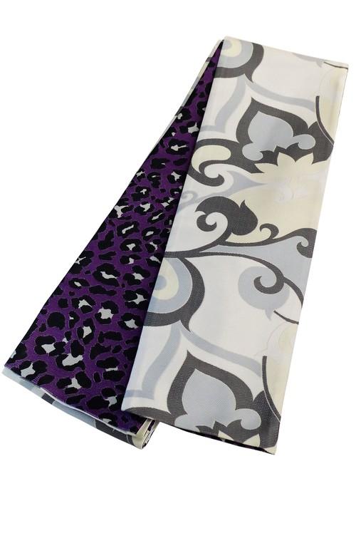 グラースオリジナル小袋帯/半巾帯 モダニスト×レオパード 白