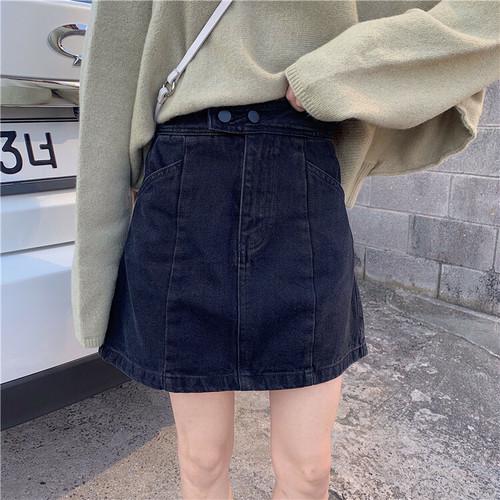 【FAST】ウォッシュカラーデニムミニスカート #RD4918
