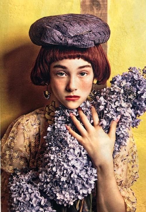 バラ色の帽子/柄入りシゾールベレー
