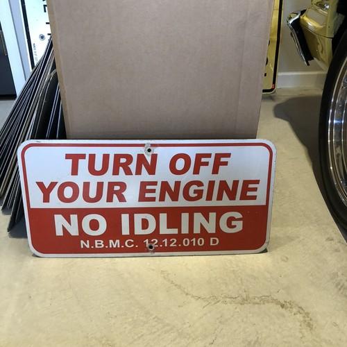 Turn off your engine 1 アメリカンロードサイン トラフィックサイン 道路標識