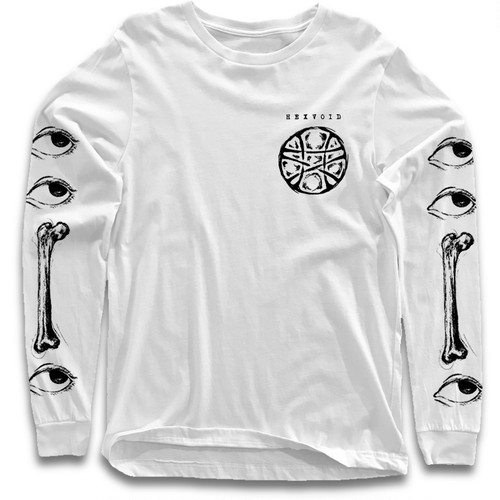 """GAZE"" WHITE [L/S T-SHIRT]"