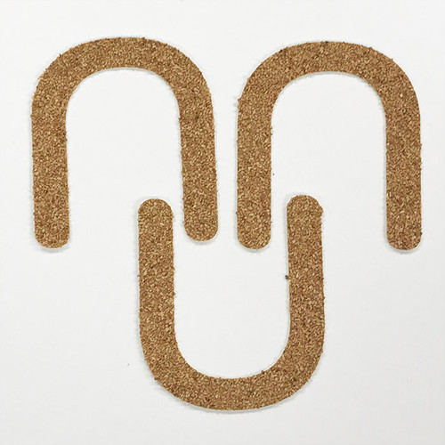 切り文字 A&Cペーパー コルク 粘着付 アルファベット「U」