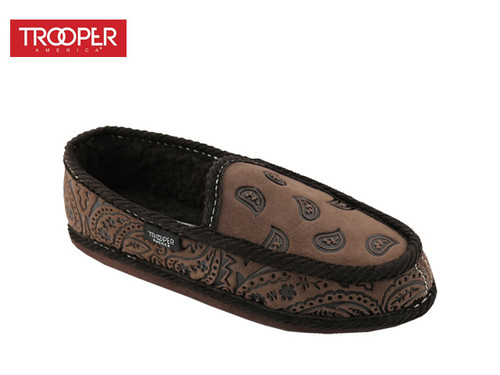 TROOPER AMERICA| Bandana SLIPON Faux FUR (BROWN- NewBuck)