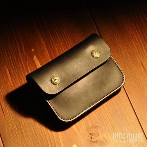 """Original Truckers' Wallet """"Short"""" w/ Brass Buttons : Black"""
