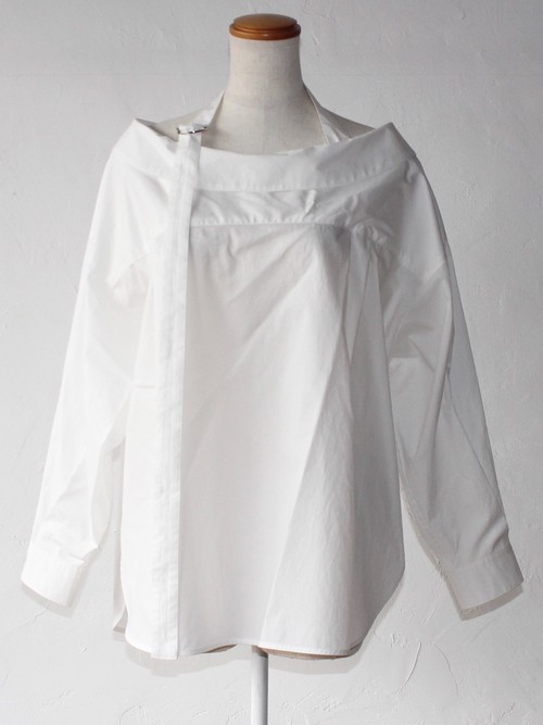 【SAYAKADAVIS】Open Collar Shirt-white