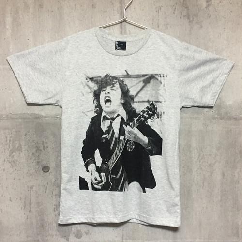 【送料無料 / ロック バンド Tシャツ】 AC/DC / Angus Young Men's T-shirts Heather Gray S エーシー・ディーシー / アンガス・ヤング メンズ Tシャツ 杢グレー S