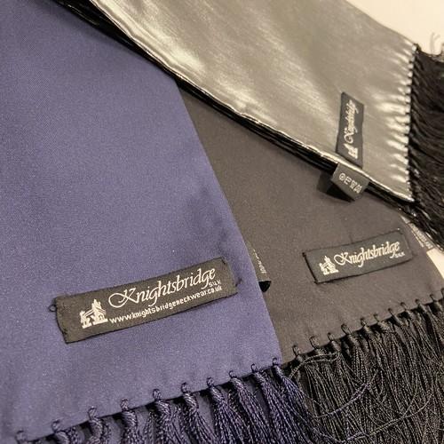 【Knightsbridge】Silk scarves (plain)